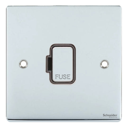 GU5500BPC Ultimate low profile polished chrome black insert 13A unswitched fused connection unit