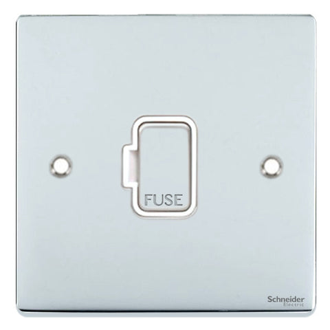 GU5500WPC Ultimate low profile polished chrome white insert 13A unswitched fused connection unit