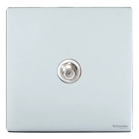GU7430WPC Ultimate screwless flat plate polished chrome white insert Single satellite