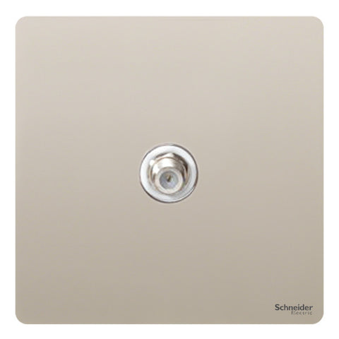 GU7430WPN Ultimate screwless flat plate pearl nickel white insert Single satellite
