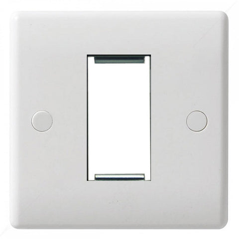 GU8050 Ultimate white moulded 1 euro modular plate