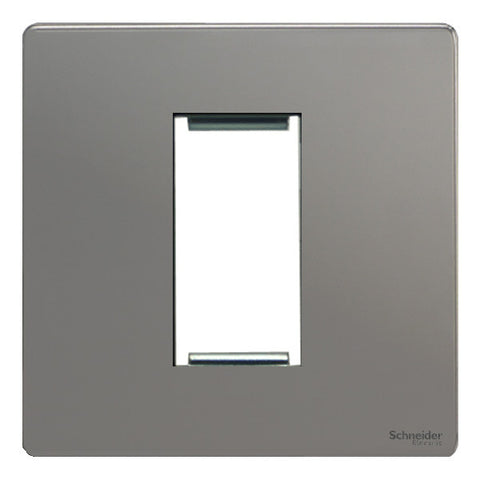 GU8450BN Ultimate screwless flat plate black nickel 1 euro modular plate