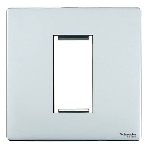 GU8450PC Ultimate screwless flat plate polished chrome 1 euro modular plate