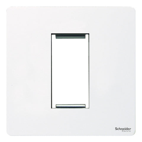 GU8450PW Ultimate screwless flat plate white metal 1 euro modular plate