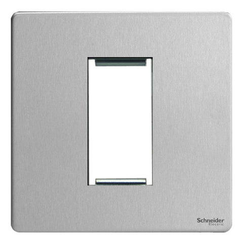 GU8450SS Ultimate screwless flat plate stainless steel 1 euro modular plate