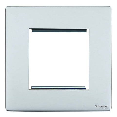 GU8460PC Ultimate screwless flat plate polished chrome 2 euro modular plate