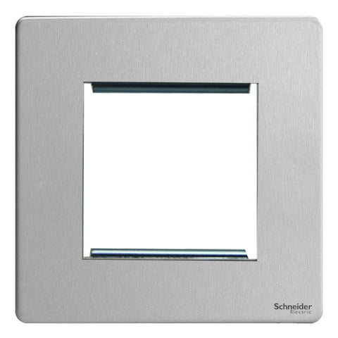 GU8460SS Ultimate screwless flat plate stainless steel 2 euro modular plate