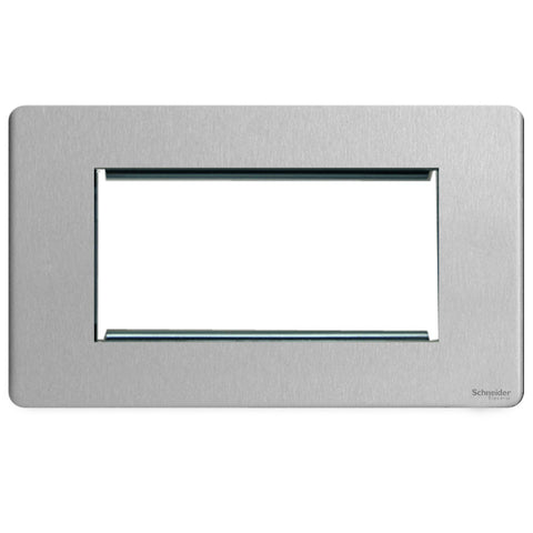 GU8480SS Ultimate screwless flat plate stainless steel 4 euro modular plate