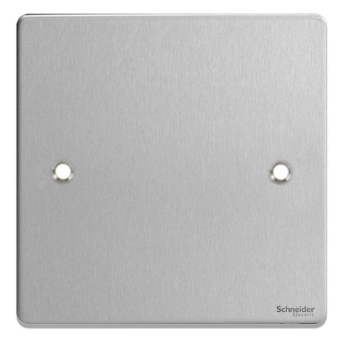 GU8510BC Ultimate low profile brushed chrome 1 gang blank plate