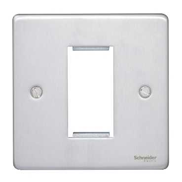 GU8550BC Ultimate low profile brushed chrome 1 euro modular plate