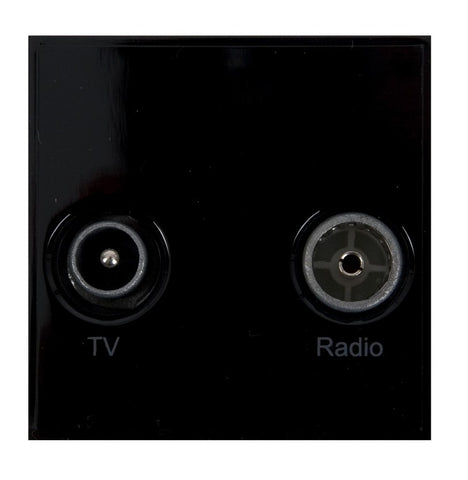 GUE7010B Ultimate euro module black TV/Radio (diplexed) - 50 x 50mm