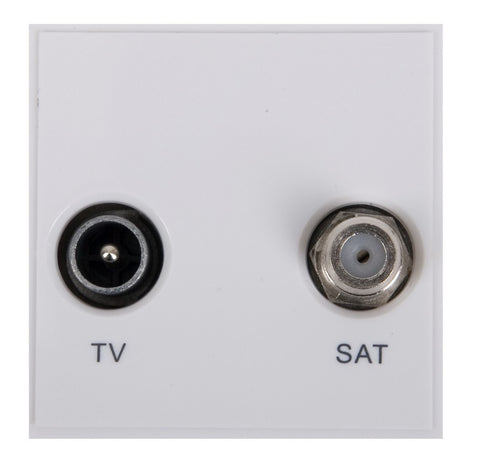 GUE7040W Ultimate euro module white TV/Sat - (diplexed) 50 x 50mm
