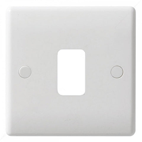 GUG01G Ultimate grid white moulded 1 gang flush plate (c/w mounting frame)
