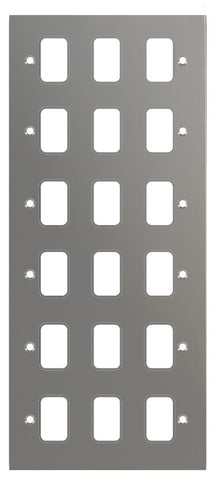GUG18GBN Ultimate grid flat cover plate black nickel 18 gang (c/w mounting frame)