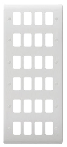 GUG24G Ultimate grid white moulded 24 gang flush plate (c/w mounting frame)
