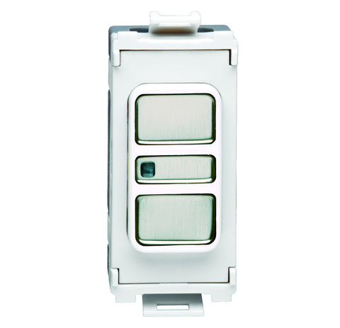 GUGEMDIMWSS16 Ultimate grid 2 way 300VA electronic dimmer stainless steel white insert