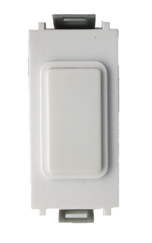 GUGEMWWPW Ultimate grid 2 way & multiway retractive switch (for use with electronic dimmers only) white metal  white insert