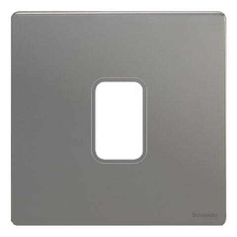 GUGS01GBN Ultimate grid screwless cover plate black nickel 1 gang (c/w mounting frame)