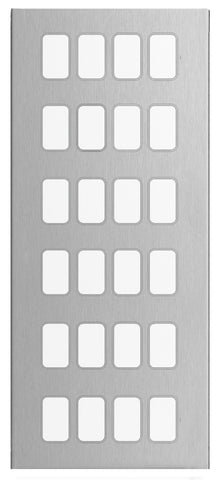 GUGS24GSS Ultimate grid screwless cover plate stainless steel 24 gang (c/w mounting frame)