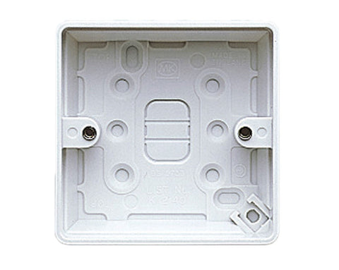MK - K2140WHI 1gang 30mm surface box