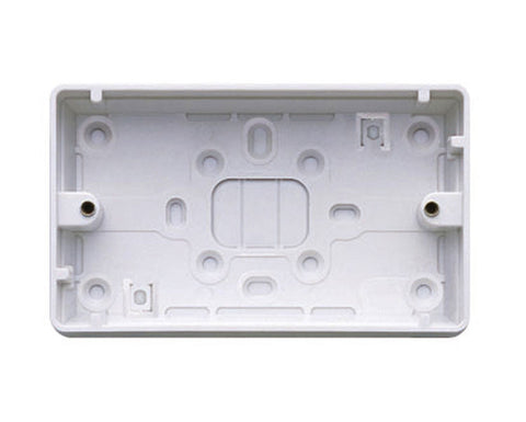 MK - K2183WHI 2 gang 32mm pvc box