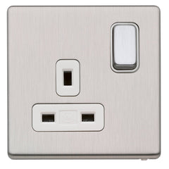 MK K24357BSSW - 13A 1G Dp Dual Earth Switched Socket