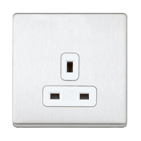 MK K24780BSSW - 13A 1G Dp Dual Earth Unswitched Socket