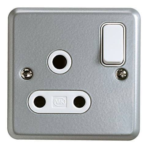 K2873ALM - 15A 1 Gang Round Pin Switch Socket Outlet - Metallic