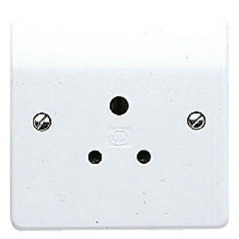 MK Electric K2891WHI Logic Plus 5A 1 Gang Round Pin Switched Socket Outlet