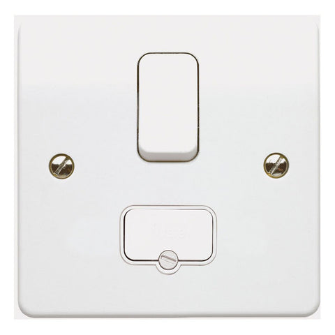 MK Electric K330WHI Logic Plus 13A DP Switched Fused Connection Unit with Flex Outlet