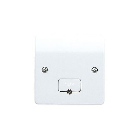 MK Electric K337KOWHI Logic Plus 13A DP Unswitched Fused Connection Unit with Flex Outlet and Tamperproof Screw