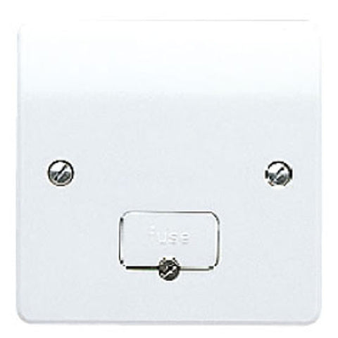MK Electric K337WHI Logic Plus 13A DP Unswitched Fused Connection Unit with Flex Outlet