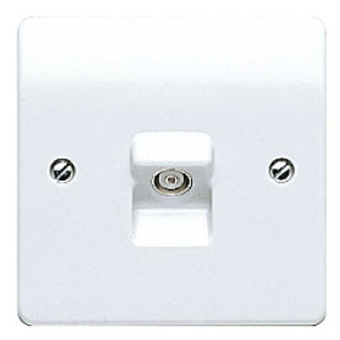 MK Electric K3520WHI Logic Plus 1 Gang TV / FM Co-axial socket