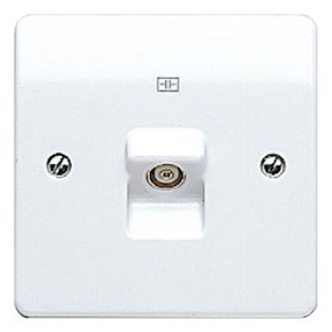 MK Electric K3521WHI Logic Plus 1 Gang Single Isolated TV / FM Co-Axial Socket