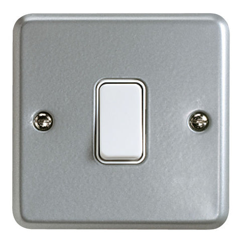 K3591ALM - 10A 1 Gang Single Pole 2 Way Switch - Metallic