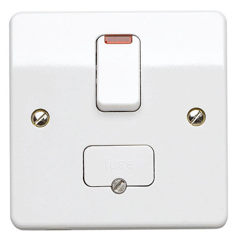 MK Electric K370WHI Logic Plus 13A DP Switched Fused Connection Unit With Neon Flex Outlet In Base