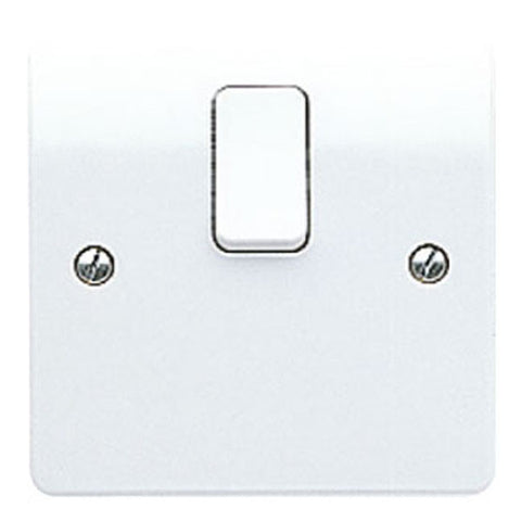 MK Electric K5403WHI Logic Plus 20A DP Switch With Flex Outlet In Base