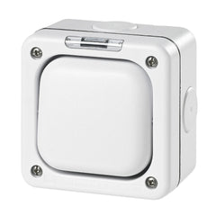 MK Masterseal Plus K56420WHI - IP66 1 Gang Switch Enclosure For Use With Any One Switch Module - White