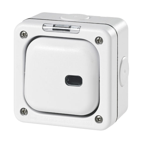 MK Masterseal Plus K56421WHI - IP66 1 Gang Switch Enclosure For Use With Any One Switch Module and Neon Module - White