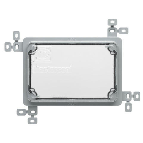 MK Masterseal Plus K56501GRY - IP66 2 Gang Plaster Tile Flush Mounting Frame - Grey