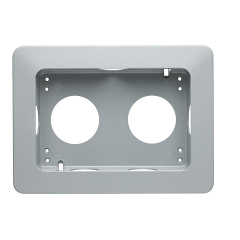 MK Masterseal Plus K56503GRY - IP66 2 Gang Flush Mounting Bezel For Use With 56506 - Grey