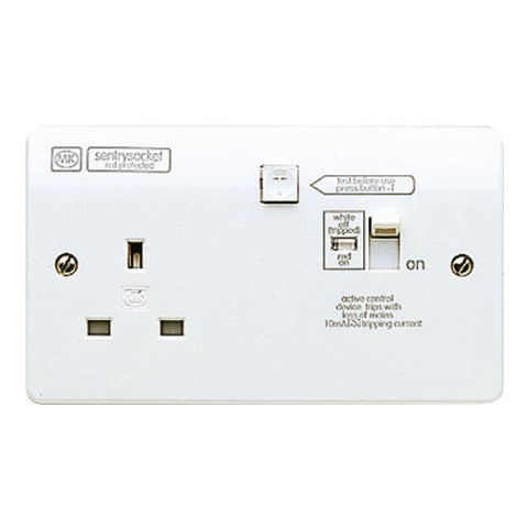 MK Electric K6300WHI Logic Plus 13A RCD Protected Switch