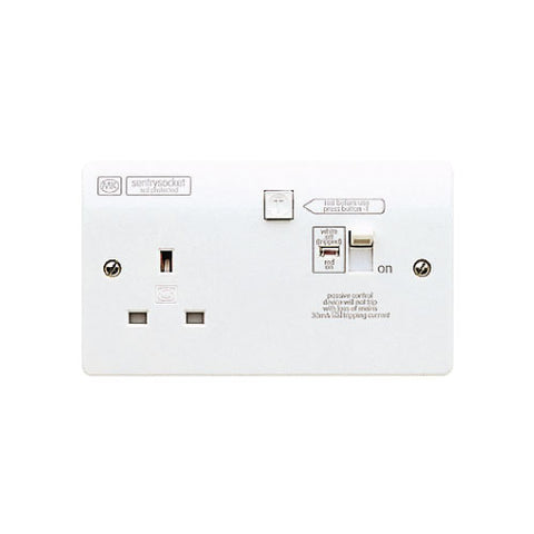 MK Electric K6303WHI Logic Plus 13A RCD Protected Switch