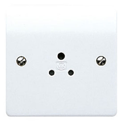 MK Electric K770WHI Logic Plus 2A 1 Gang Round Pin Socket