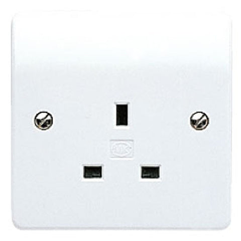 MK Electric K780WHI Logic Plus 13A 1 Gang Unswitched Socket