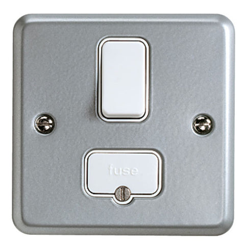 K942ALM - 13A Double Pole Switched Fused Connection Unit - Metallic