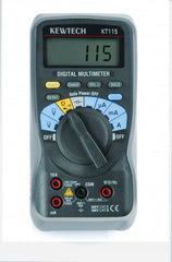 Kewtech - KT115 Digital Multimeter AC/DC 300V 10A Data Hold wth Holster