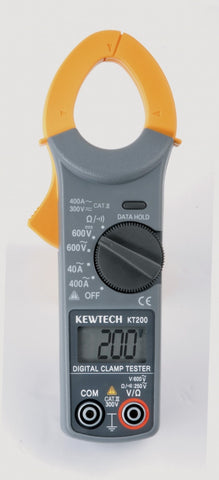 Kewtech - KT200 Digital  AC 400A  600V Clamp Meter 33mm