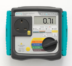 Kewtech - KT71 Manual Hand Held PAT Tester mains operated