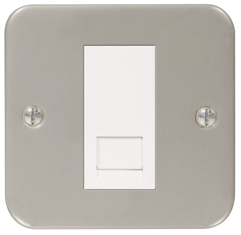MC5BTM1 - 1 Gang Single Master BT Telephone Socket - Metallic